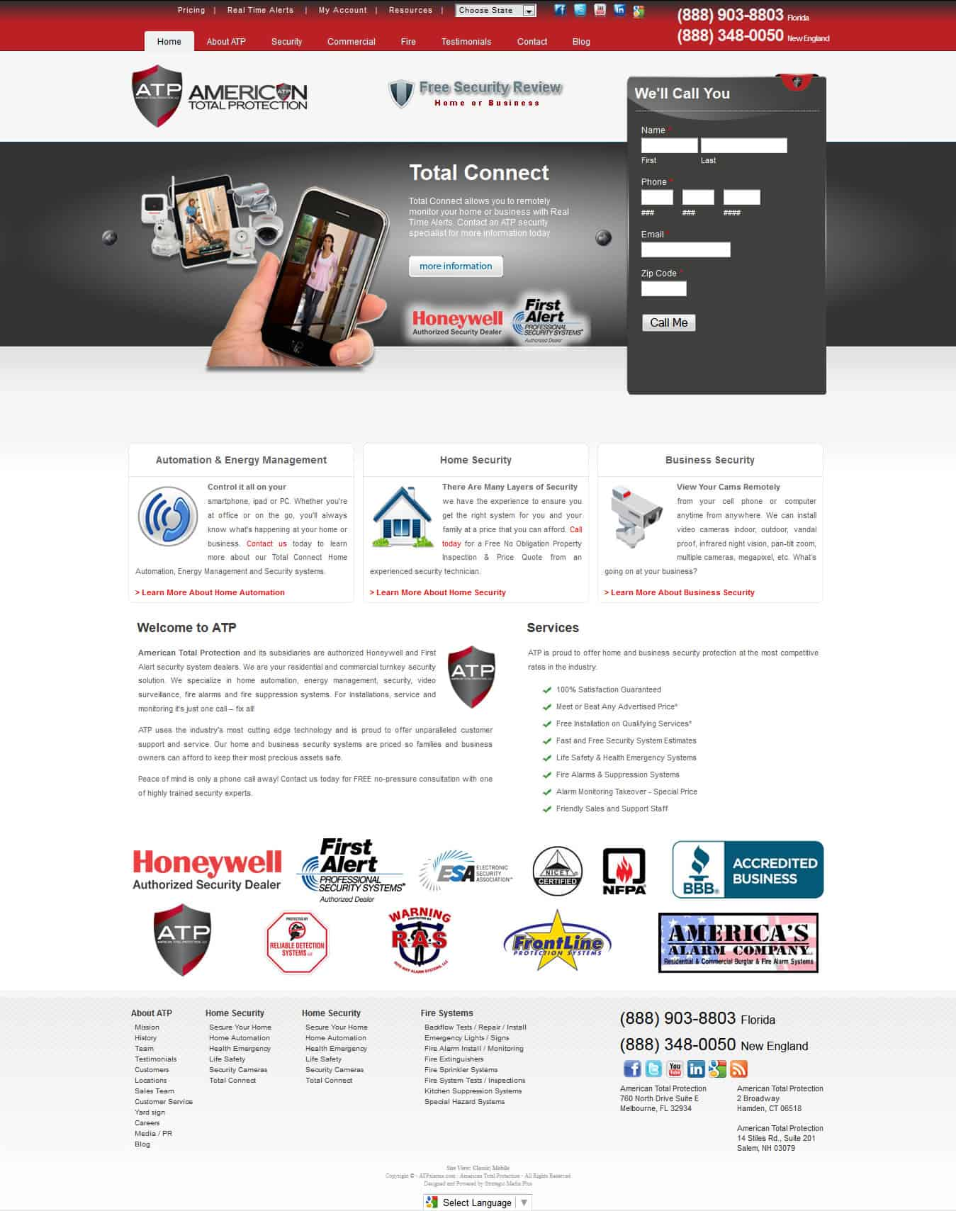 Need a website like ATPalarms.com? Strategic Media Plus specializes in SEO Websites, Local SEO, Social Media and Email Marketing - Call (877) 855-5241